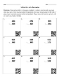 Subtraction with Regrouping & QR Codes