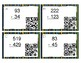 QR CODE Subtraction with Regrouping Task Cards