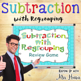 Subtraction with Regrouping Review Game Notebook