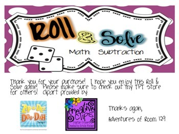 Subtraction with Regrouping Roll & Solve