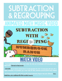 Subtraction with Regrouping | FREE Poster, Worksheet & Fun Video | 2nd-3rd Grade