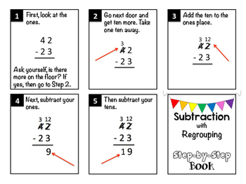 Subtraction with Regrouping Step-by-Step Book by Joyful Rigor with ...