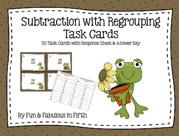 Subtraction with Regrouping Task Card Set