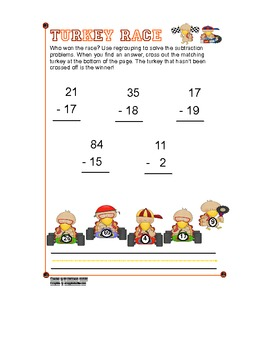 Subtraction with Regrouping - Turkey Style