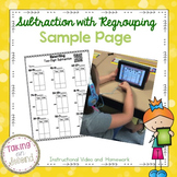 Subtraction with Regrouping Unit {Instructional Video and