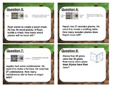Minecraft Math Subtraction with Regrouping Word Problems
