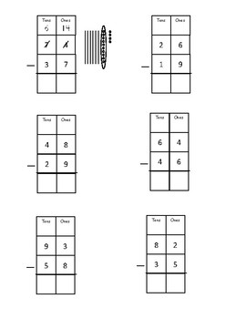 Subtraction with Regrouping Worksheet