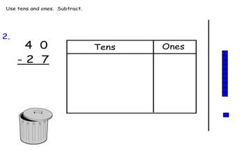 Subtraction with Regrouping (advanced) SmartBoard activity