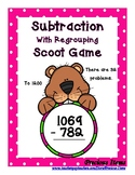 Subtraction with Regrouping to 1200 - Groundhogs - Scoot Game