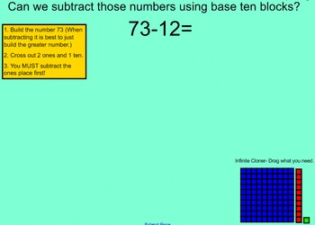 Subtraction with Regrouping using Base Ten Blocks MCC3. NBT2