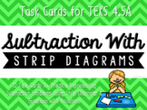 Subtraction with Strip Diagrams & Equations Match-Up Cards {TEKS 4.5A}