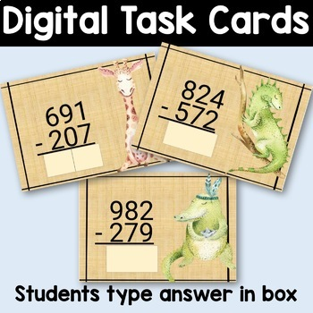 Subtraction with Trading Boom Cards! Hundreds Place Value