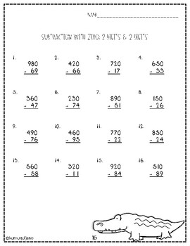 Subtraction with Zero Packet