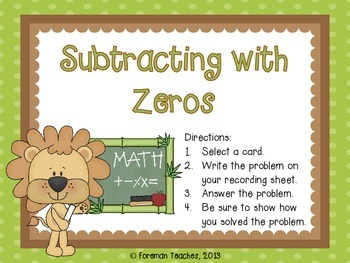 Subtraction with Zeros