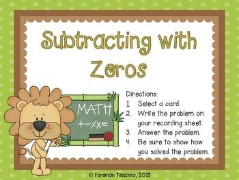 Subtraction with Zeros