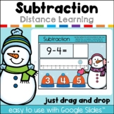 Subtraction with a Number Line Winter Interactive Google™ Classroom