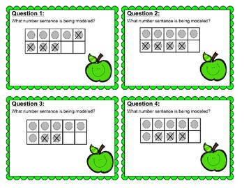 Subtraction with a Ten Frame Task Cards