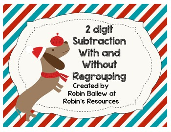 Subtraction with and without Regrouping Task Cards