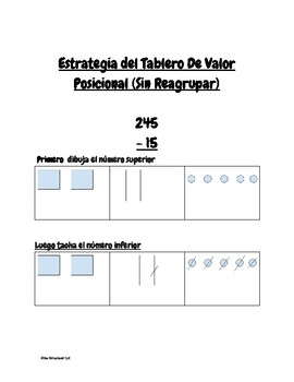 Subtraction with and without regrouping- Cheat sheet (bilingual)