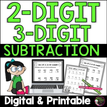 Subtraction with and without regrouping - (Two and three digit )