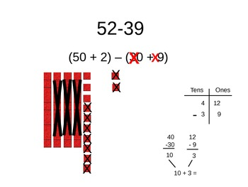 Subtraction with animation PowerPoint