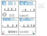 2nd Grade Math Calendar - 1,000's Subtraction with base ten regrouping, Money