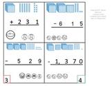 2nd Grade Math Calendar - 1,000's Subtraction with base te