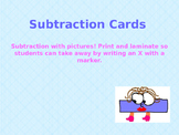 Subtraction with pictures: numbers 1-10
