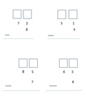 Subtraction with regrouping page and template