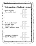 Subtraction with regrouping poem