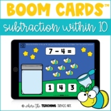 Subtraction within 10 Boom Cards | Distance Learning Resource