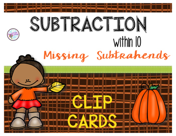 Missing Subtrahends:  Subtraction within 10
