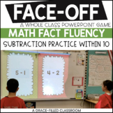 Subtraction Facts Sums to 10 Kinder and 1st Grade