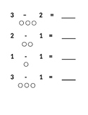Subtraction within 10 Worksheet with Visuals