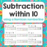Subtraction within 10 using numicon numberline