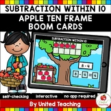 Subtraction within 10 with Ten Frames (Apples) Boom Cards