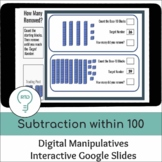 Subtraction within 100 using Base-10 Blocks | Digital Visu