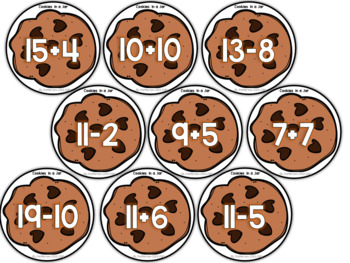 Cookies in a Jar {An Addition and Subtraction to 20 Center}