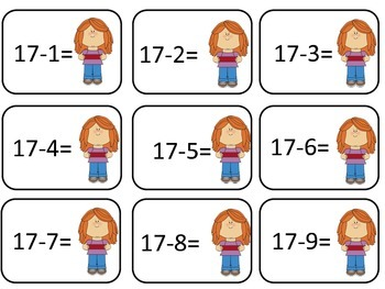 Subtraction within 20 BAM!