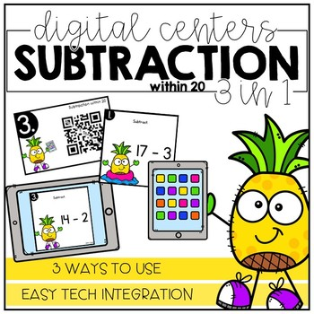 Subtraction within 20 - Digital Math Centers