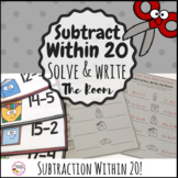 Subtraction within 20 Write the Room Math