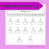Subtraction within 20 - Using Number Line