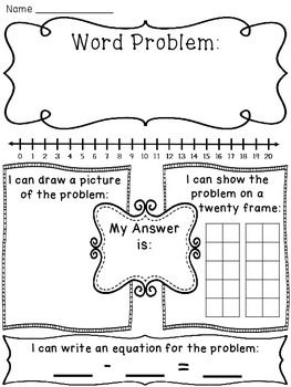 Subtraction within 20 Word Problems Pack