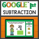 Subtraction within 20 for Google Classroom™ for Distance Learning