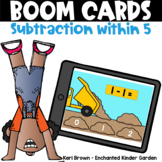 Subtraction within 5 -  Boom Cards