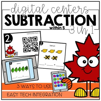 Subtraction within 5 - Digital Math Centers