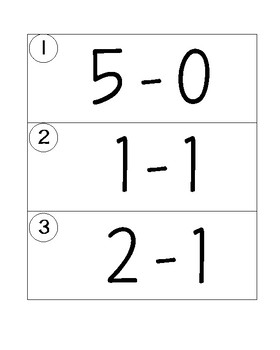 Subtraction within 5 Write the Room