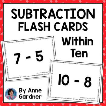 Subtraction within Ten Flashcards {Free!}