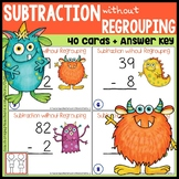 Subtraction without Regrouping Task Cards