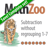 Subtraction without Regrouping: Complete Drill set